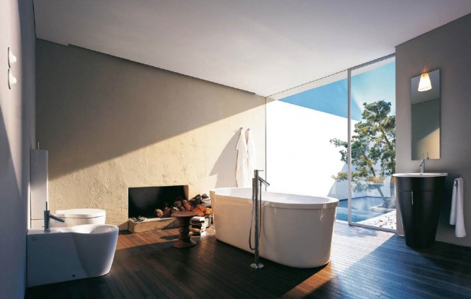Philipe Starck white modern bathroom design