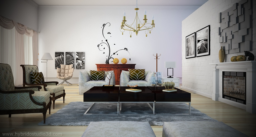 Make a white living room chic unique - Black and yellow living room ...