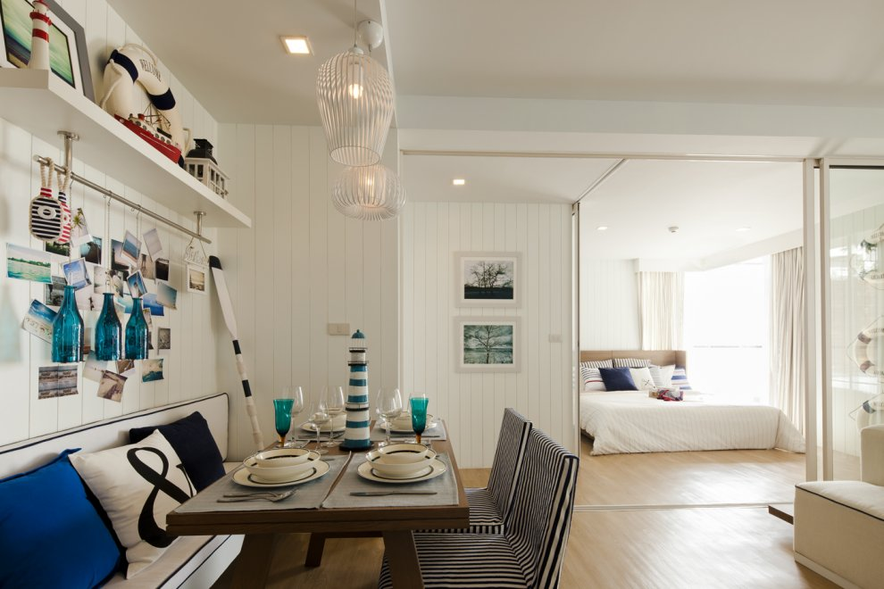 Nautical Beach Decor Dining Room Photos 990 x 660