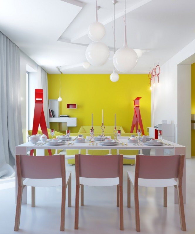 contemporary colorful decor