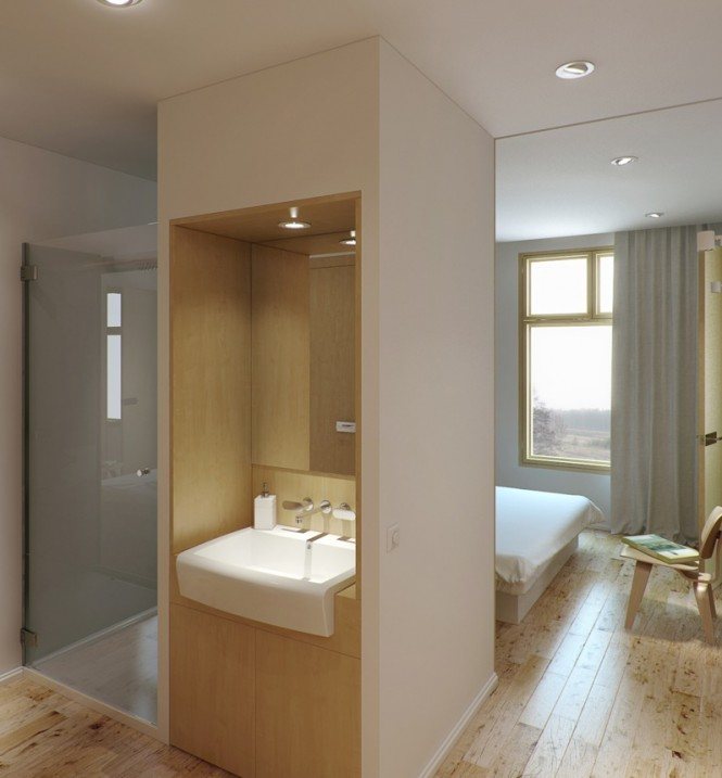 neutral ensuite shower room