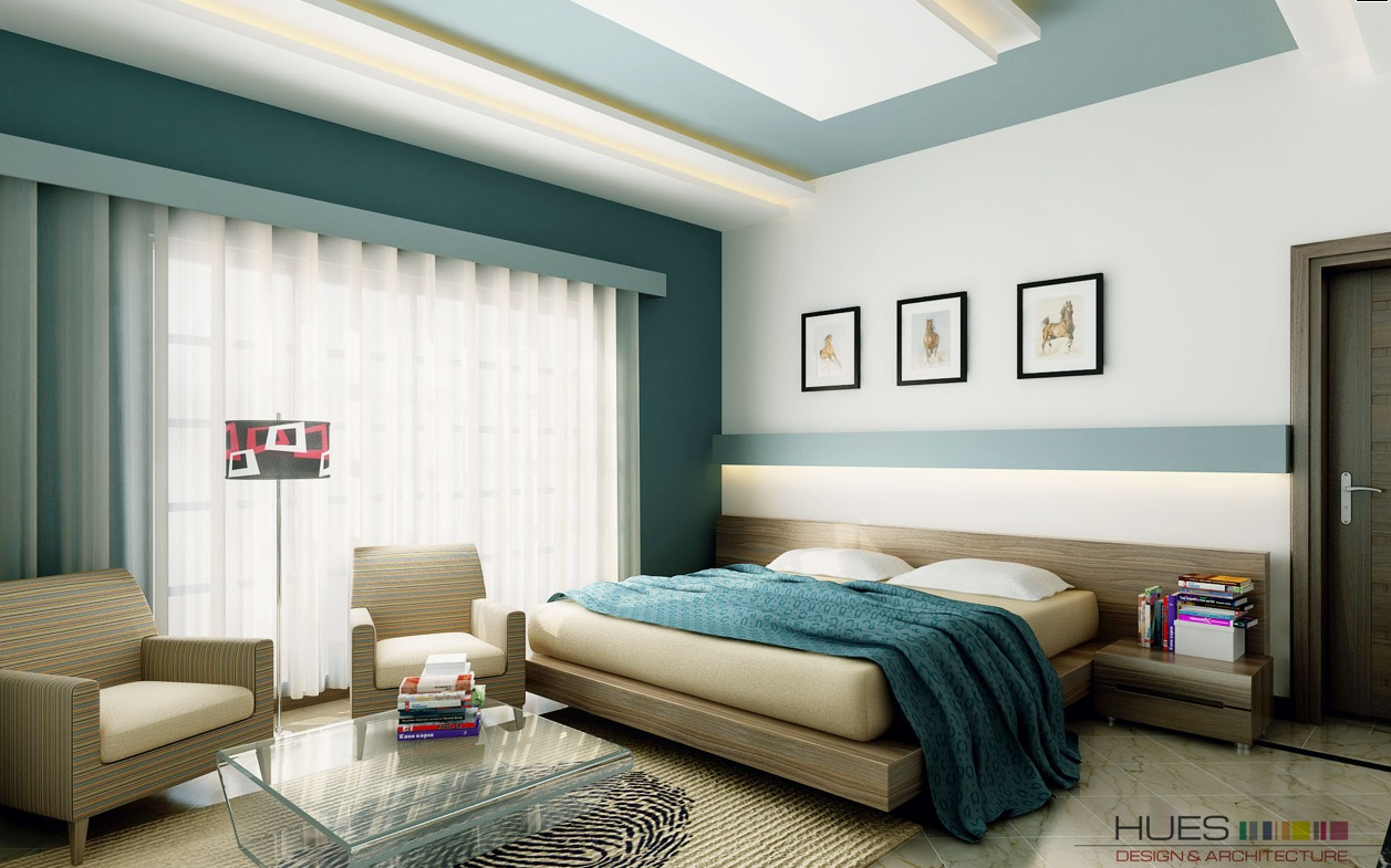Teal colour bedroom ideas interior home design home decorating - Beautiful wall color and design ...