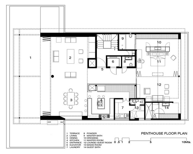 Apartment layout plan - Lay outs penthouse ...