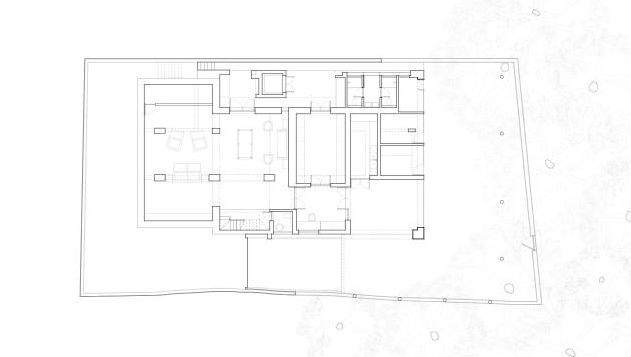Courtyard house floor plan 01