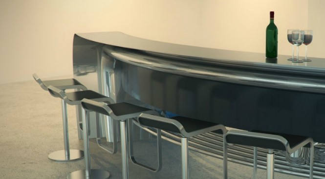 Curved breakfast bar
