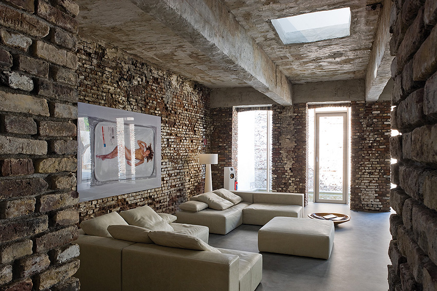 Raw look loft in d sseldorf - Industrial style mobel ...