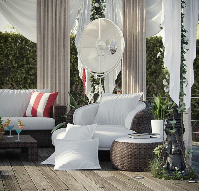 Romantic deck lounge
