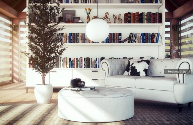 White leather sofa footstool pouffe