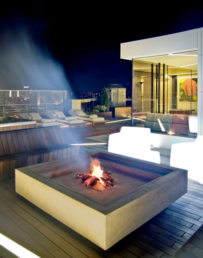 decking fire pit