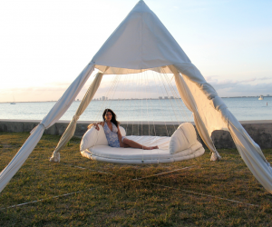 With the option of an indoor or an outdoor Floating Bed™, its not just a place to sleep, but a fun place to hang out and chat with friends or the kids, to relax peacefully with a good book, or to gaze at the view with a refreshing cocktail in hand.
