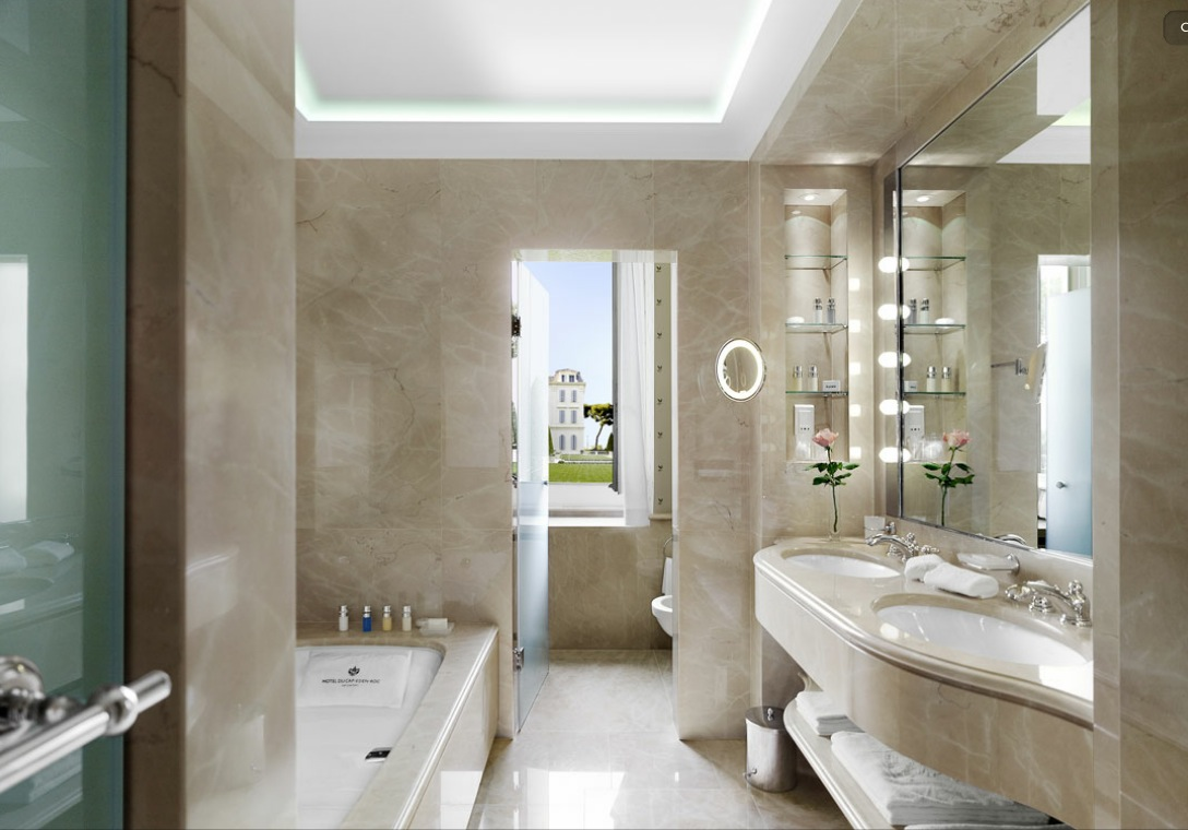 The delectable hotel du cap eden rock for Luxury bathroom designs