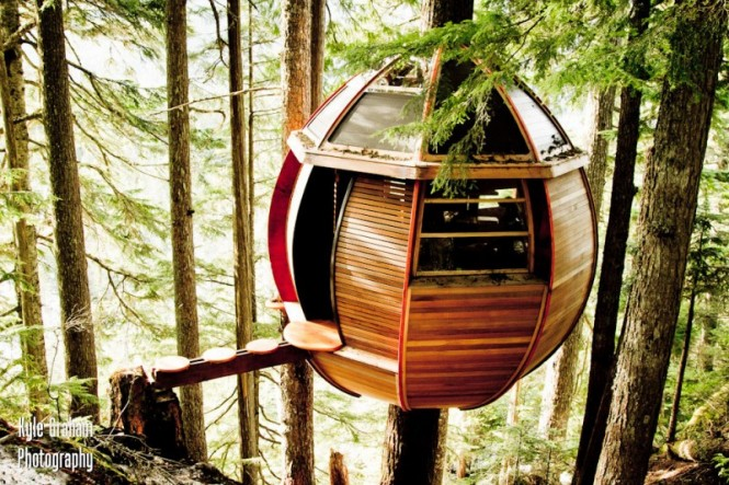 Three years after the project was complete, Allen wanted to share the beauty of the treehouse with the world, but as it was built on crown land he does not technically own it and now risks the very real possibility that it will be torn down by officials, but for now, it stays hidden safely in the forest.
