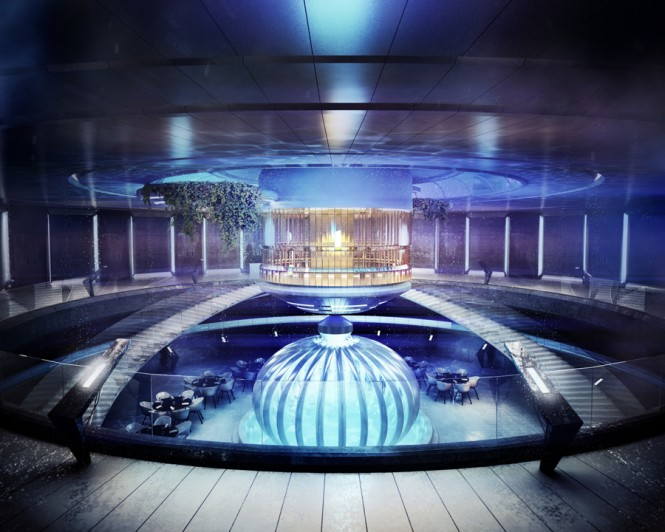Stunning underwater hotel the water discus gawe omah for Pool design dubai