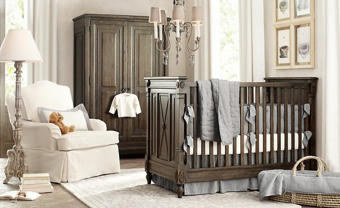 Brown blue white Boys Nursery