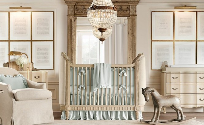 Cream aqua blue boys nursery