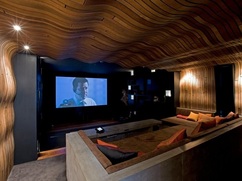 Home theatre entertainment room Home theater architecture