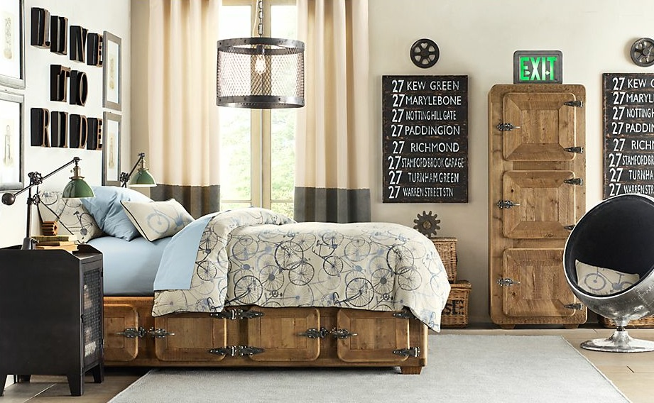 A treasure trove of traditional boys room decor for Bedroom ideas industrial