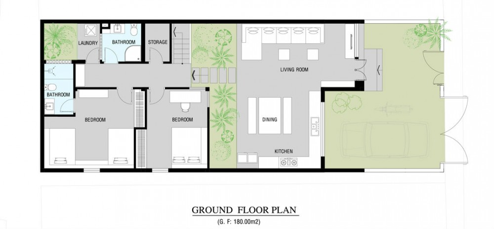 Modern home floor plan Small modern home floor plans