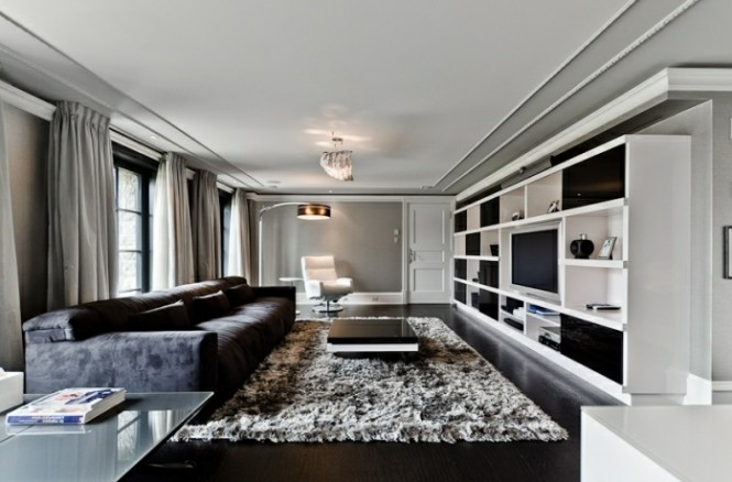 modern style entertainment room