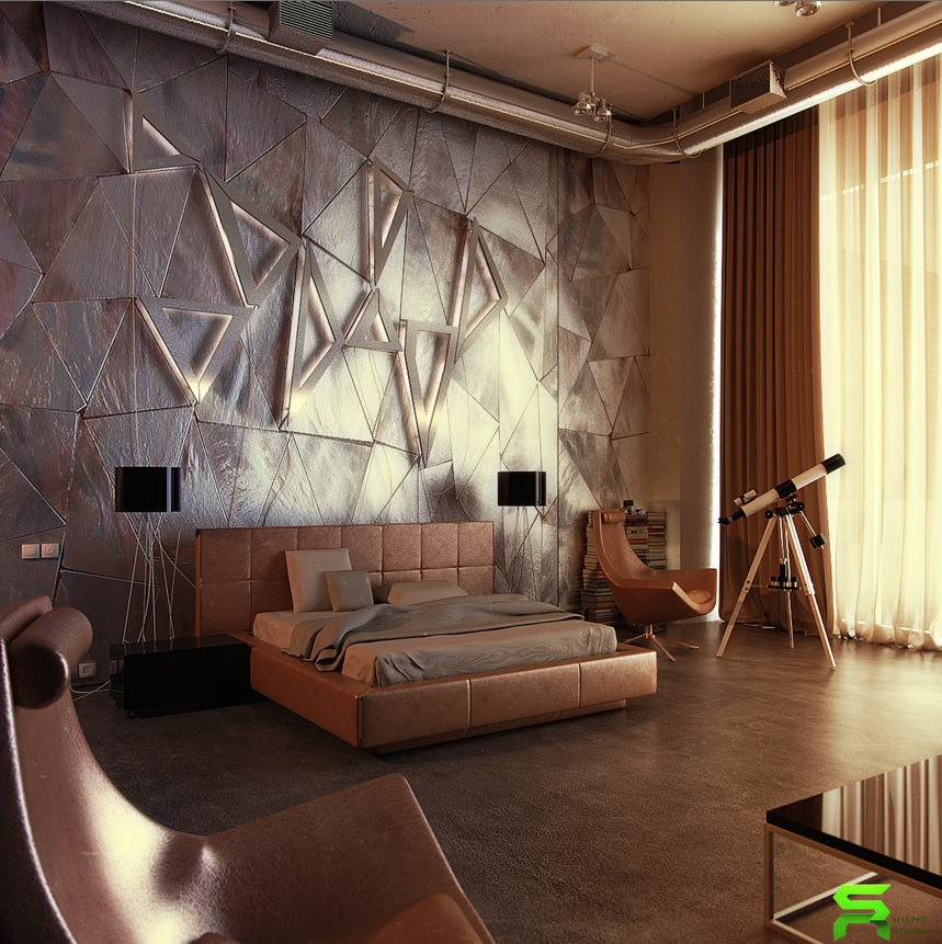 Cool Wall Covering Ideas : Unique wall texturing examples
