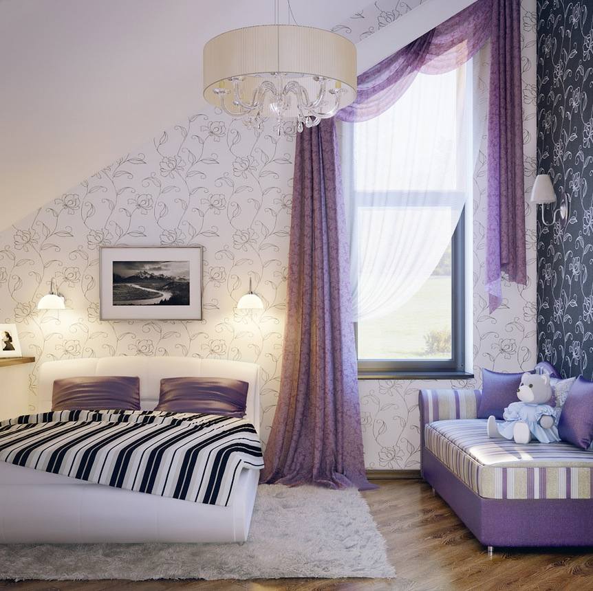 http://www.home-designing.com/wp-content/uploads/2012/07/Lilac-white-black-girls-room.jpg