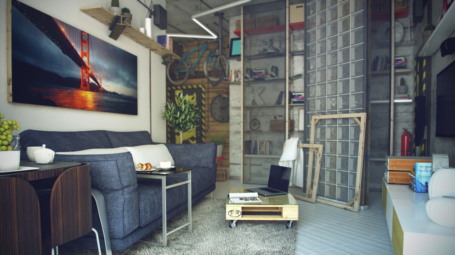 Casual loft style living - Loft and roomers ...