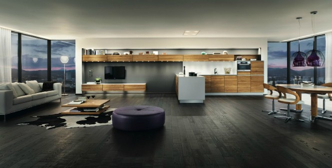 Open plan apartment design
