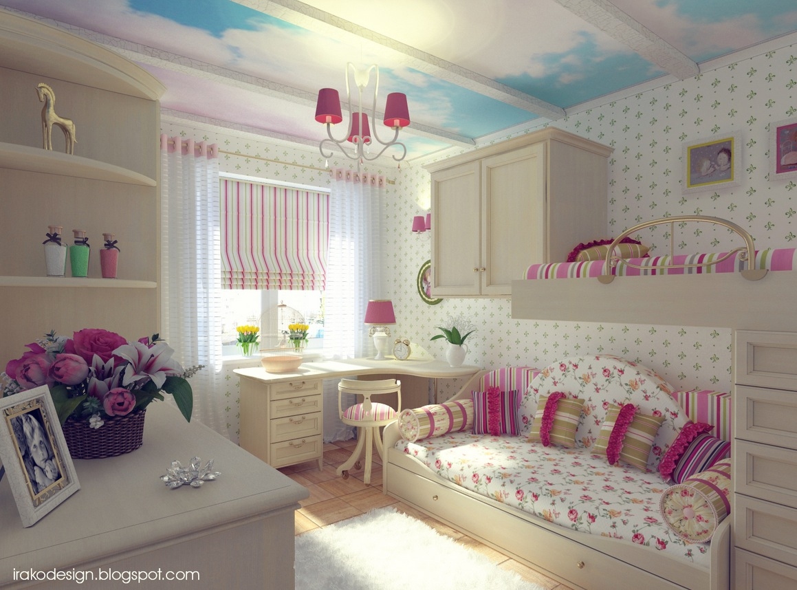Cute girls 39 rooms - Pink and white teenage room ...