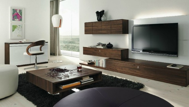 Wenge white living room