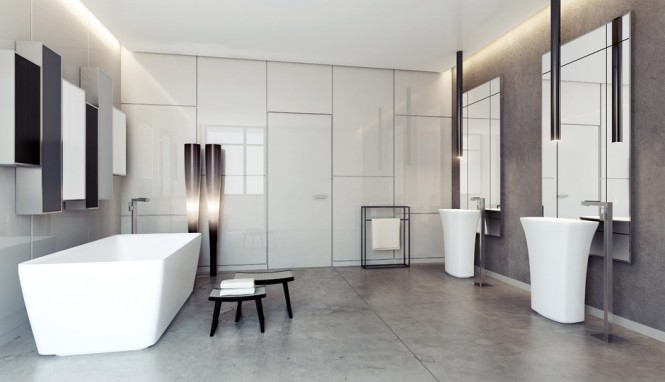 2 Contemporary bathroom layout