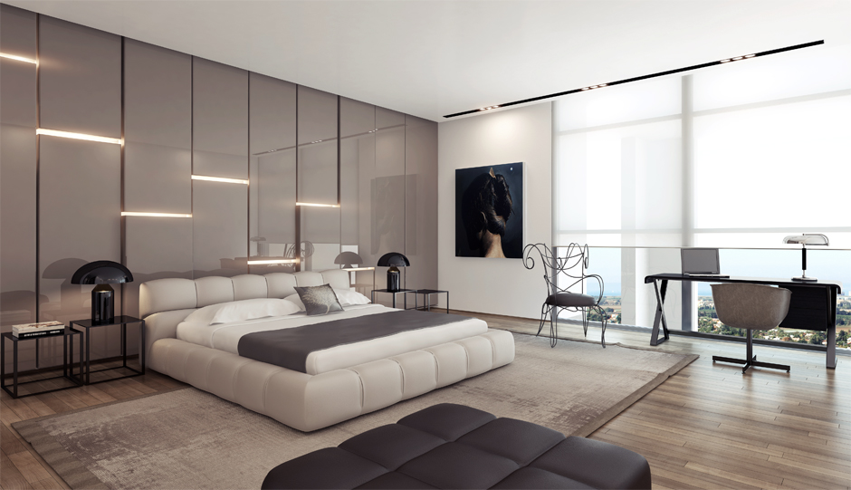 Modern Bedroom Wall Designs