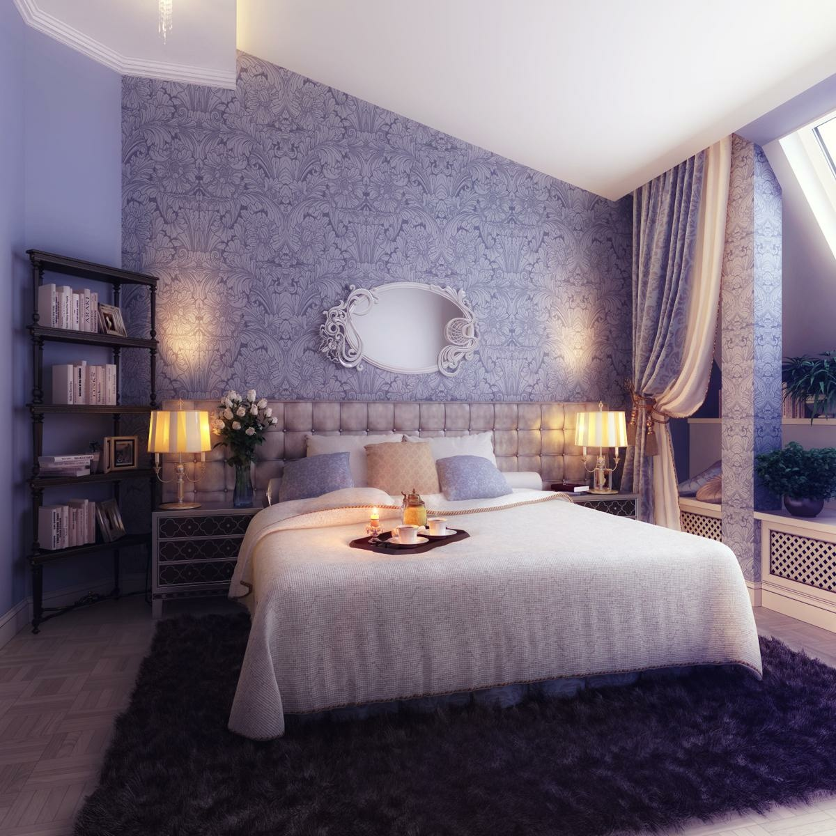 Bedrooms with traditional elegance Romantic bed designs