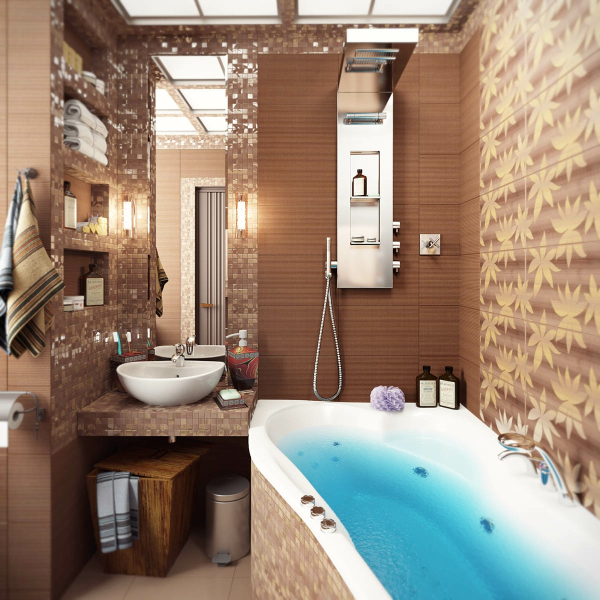 Brown Bathroom Ideas Mesmerizing With Small Bathroom Decorating Ideas Brown Image