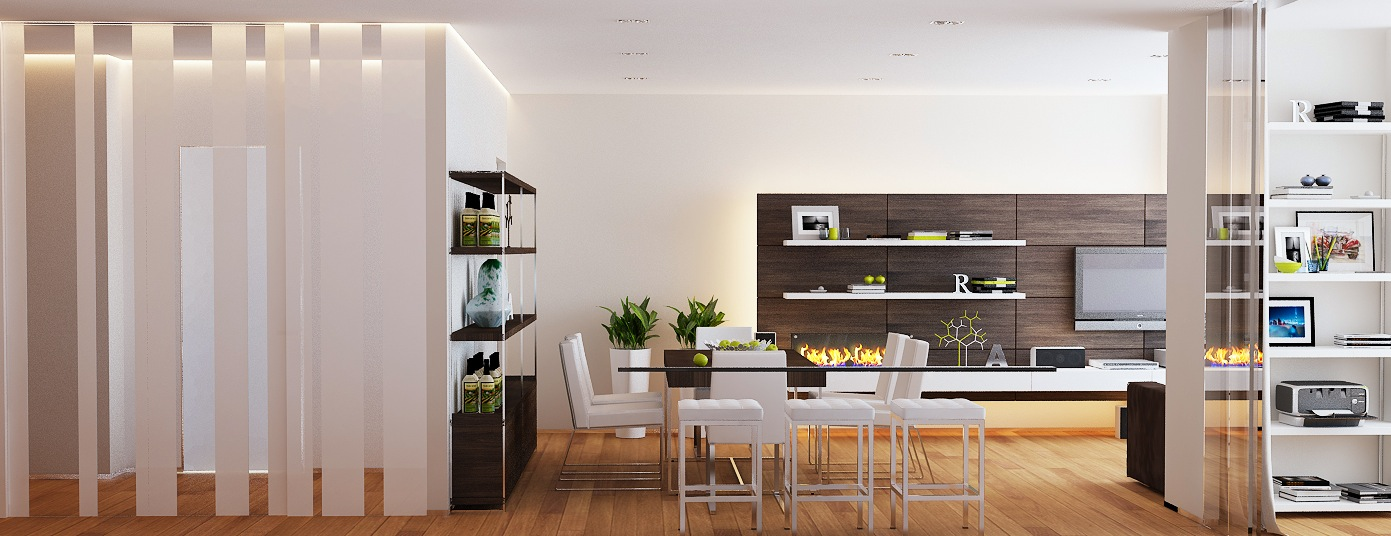 Brown white dining room lounge - Brown and white dining room ...