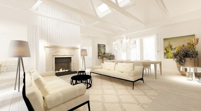 Cream white sitting room