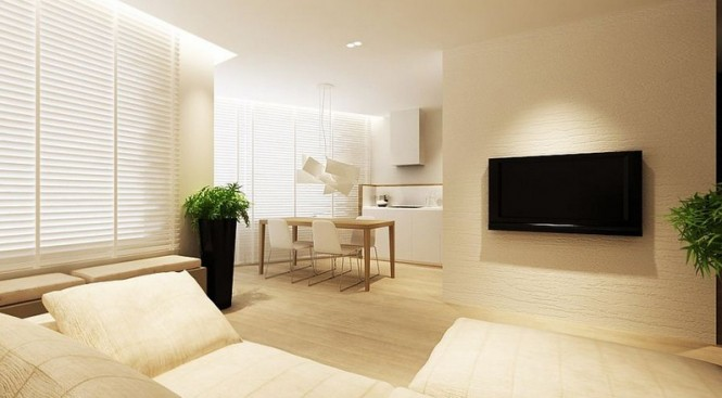 Light living area decor