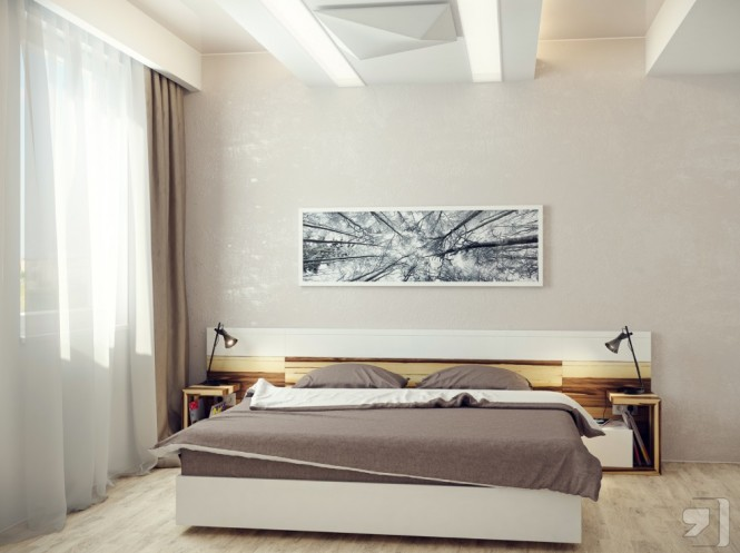 Neutral modern bedroom