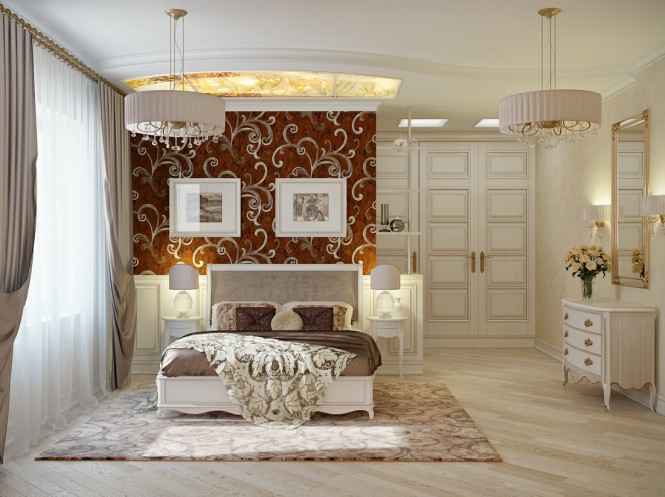 Via Hot IceSimilarly, this décor plan plays down elements of opulence, with accessories kept clean and simple, and modern shades placed over chandelier gems to only allow a peek of twinkle.
