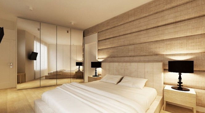 Textured bedroom wall