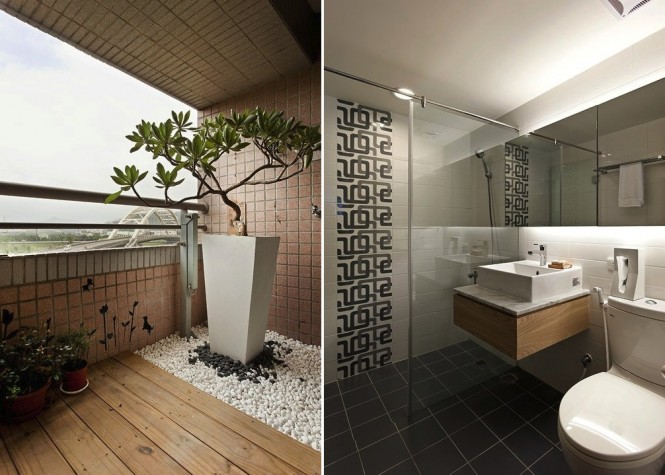 White and wood bathroom