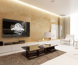 Cream brown white lounge