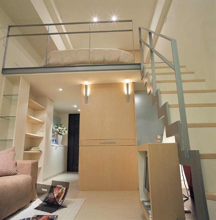 on the opposite side of the hallway storage a tall lounge cupboard sandwiches a pullout - House Design In Small Space
