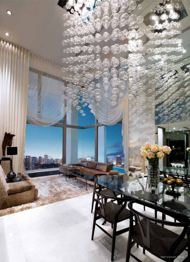 Via KJ HomeHigh ceiling window treatments are often stark, but high ceiling curtains can work well when created in a sheer fabric to still make the most of all that wonderful natural light. Venetian blinds provide a practical solution for taller windows, as they can be tipped slightly to shield the room and its inhabitants from excess glare whilst still letting in the daylight.