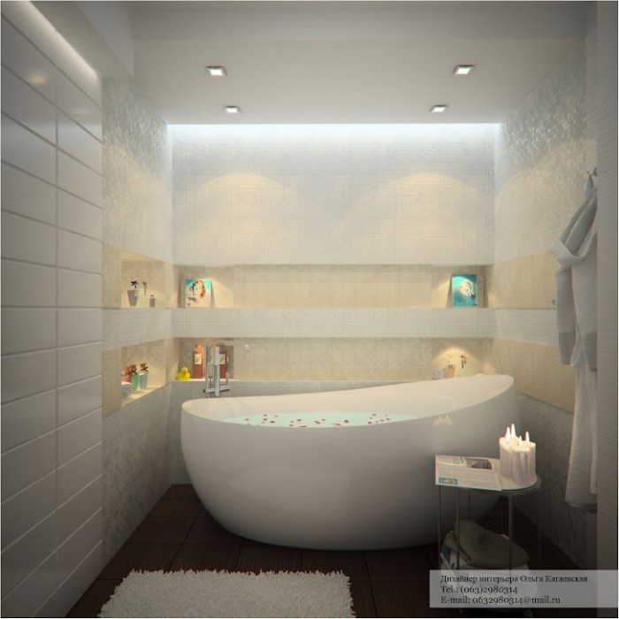Modern white bathroom - Bathroom false ceiling designs ...