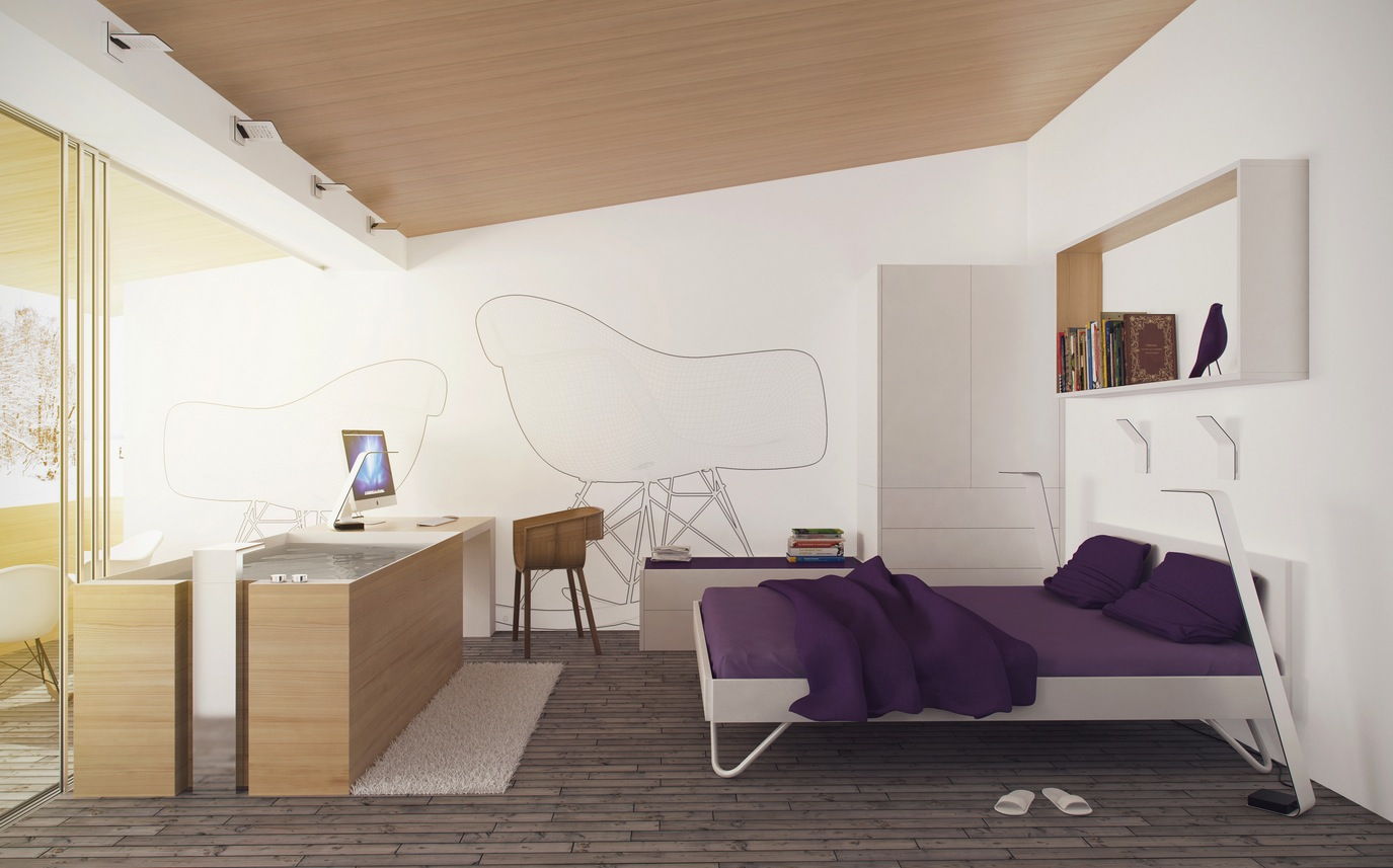 Purple White Bedroom
