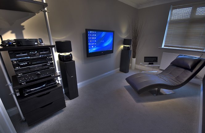 The PC Room looks less of an office and more like a lounge, housing a Sony 40S2030 that is used as a monitor, Technics separates, Sony Vaio VGX TP2S/B, Mission 73&#039;s. QED HDMI&#039;s, opticals &amp; Silver Anniversary XT, Dinovo Edge, and MX-Air mouse for control.