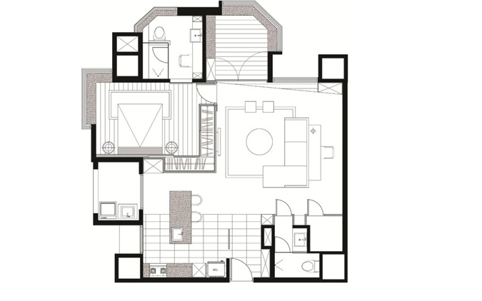 Interior layout plan for Layout design of house