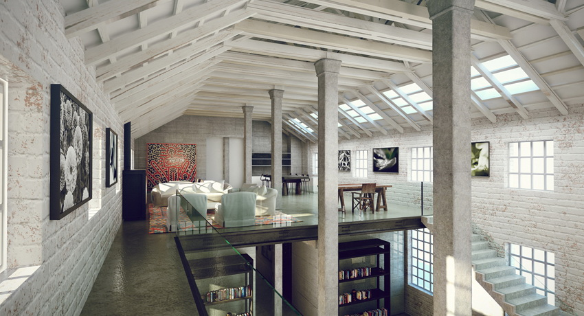 Industrial lofts for Industrial style homes