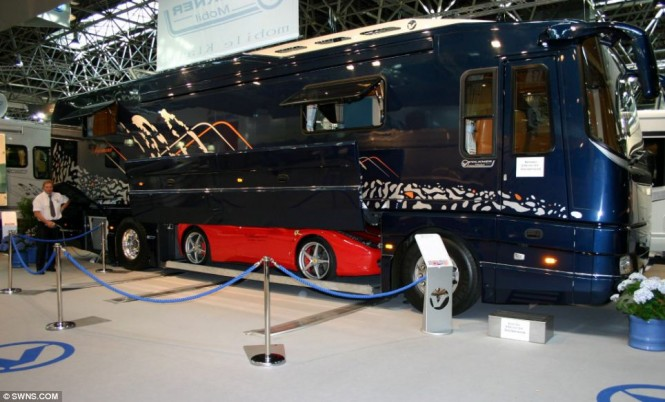 Dubbed the world's ultimate camper van, the 40ft long rolling home is something a touring rockstar would be proud of, and has certainly wowed the crowds at the Caravan Salon in Dusseldorf, Germany.