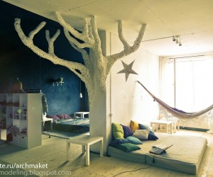 What&#039;s more whimsical than bringing the tree house indoors?
